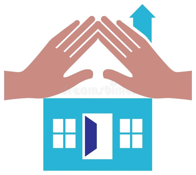 domowy logo royalty ilustracja