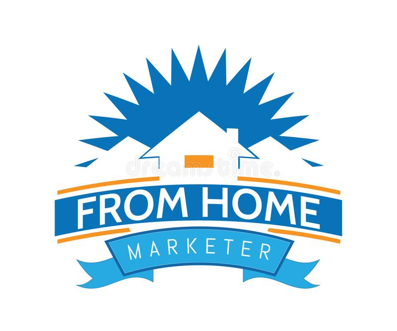 Domowy logo dla nieruchomości firmy w zabawa stylu royalty ilustracja