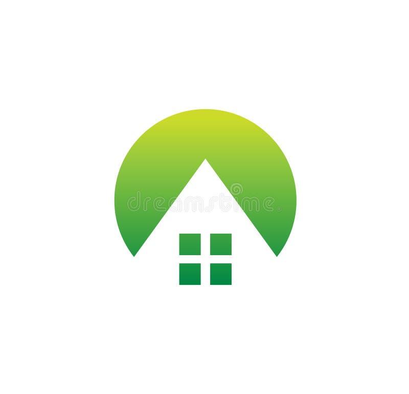 Domowy logo, schronisko, domu projekt, remontowy biznes, nieruchomości ikona, buduje loga szablon, architektura symbol, wioska ilustracji