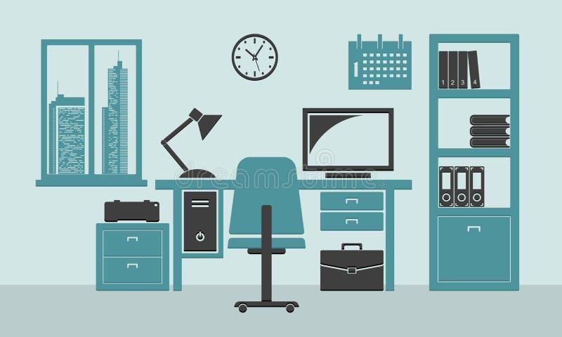 Domowy lub biurowy miejsce pracy royalty ilustracja