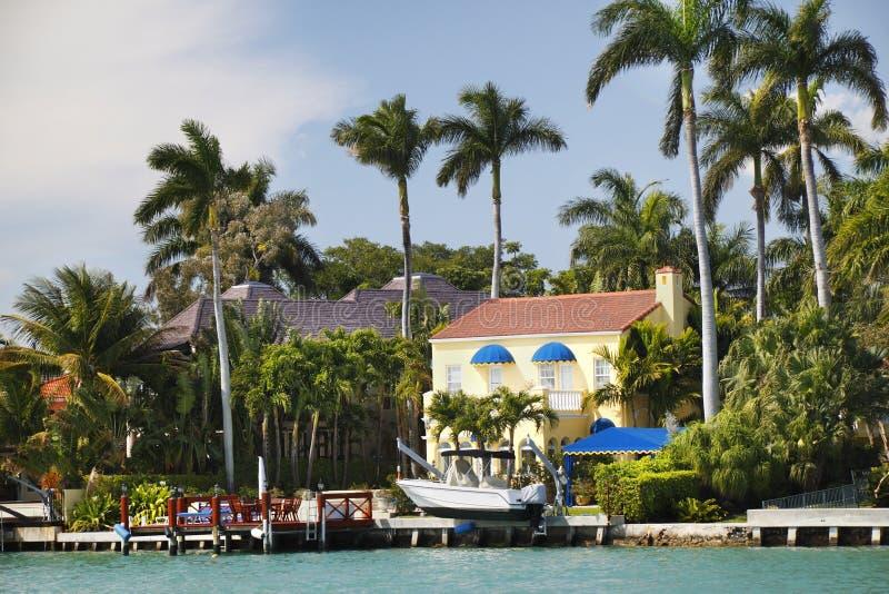 domowy luksusowy Miami zdjęcie royalty free