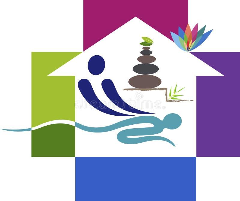 Domowy masażu logo ilustracja wektor