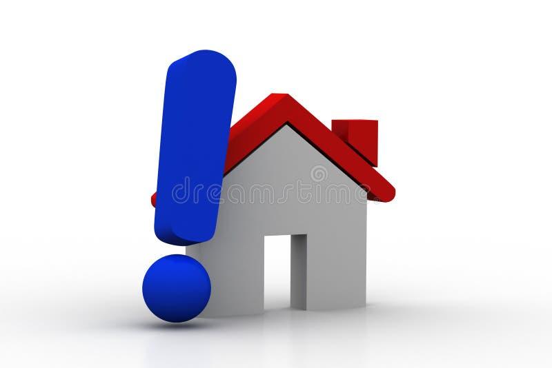 Domowy model z okrzyk oceną royalty ilustracja