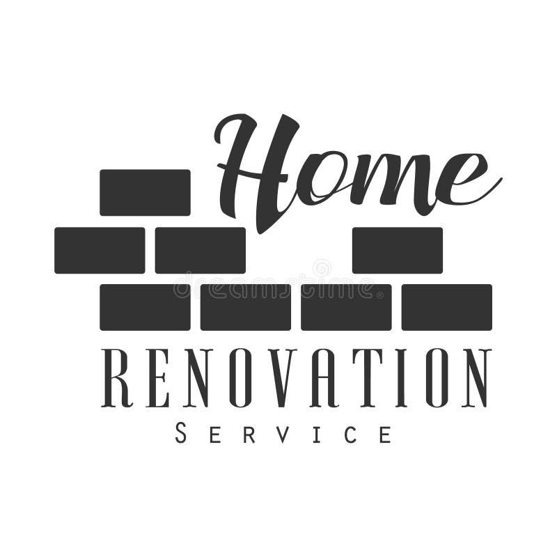 Domowy naprawy, odświeżania projekta Usługowy Czarny I Biały Szyldowy szablon Z i ilustracji