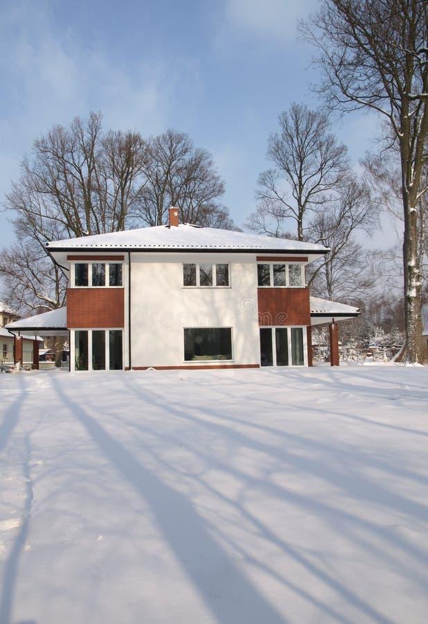 domowy nowożytny śnieżny obrazy royalty free