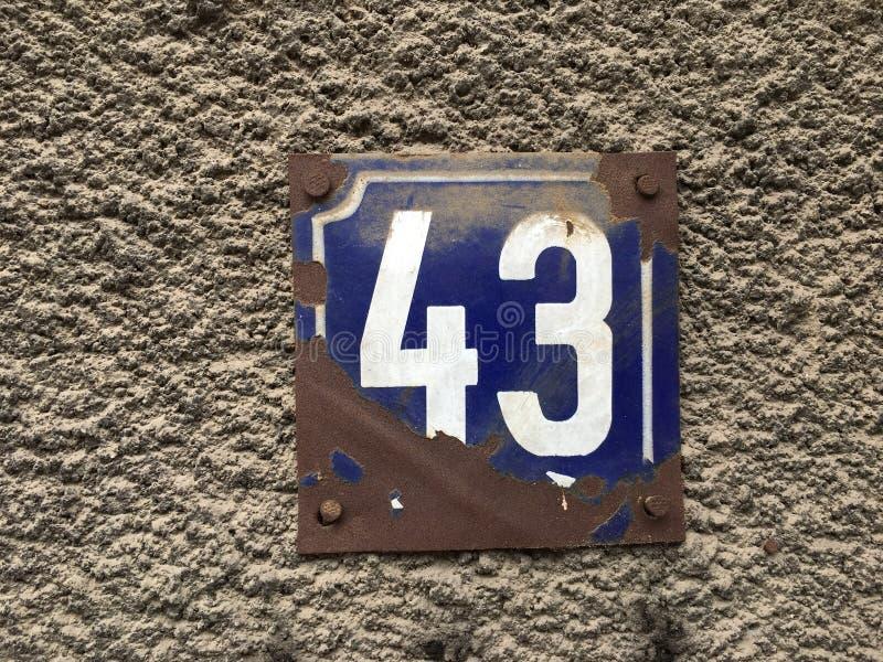 43 domowy numerowy talerz zdjęcia stock