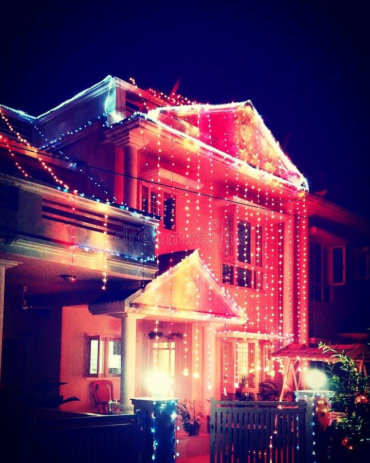 Domowy oświetlenie podczas wakacji fotografia stock