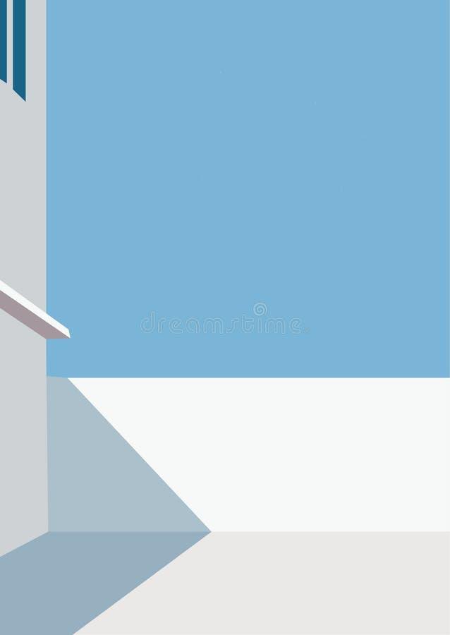 Domowy odgórny ilustracja dachu światło słoneczne royalty ilustracja