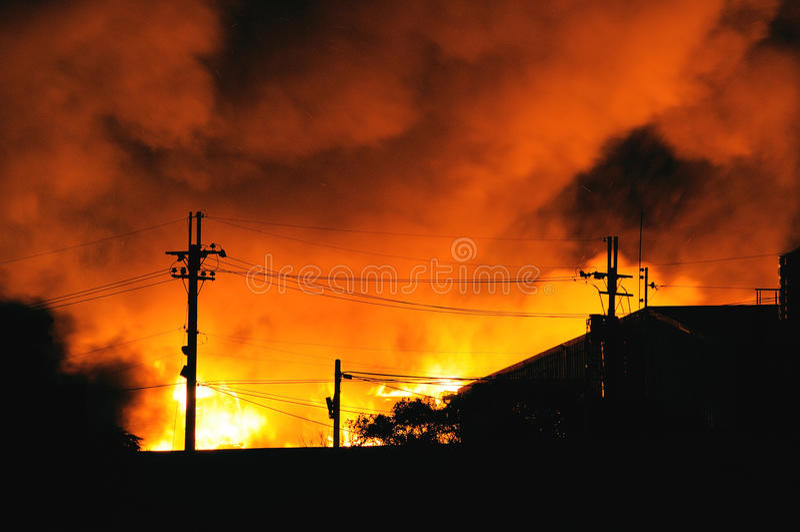 Domowy ogień obraz royalty free