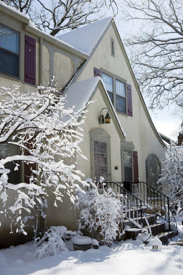 domowy opad śniegu obraz royalty free