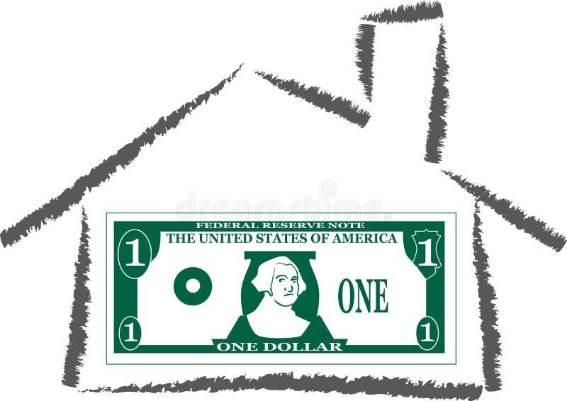 domowy pieniądze royalty ilustracja