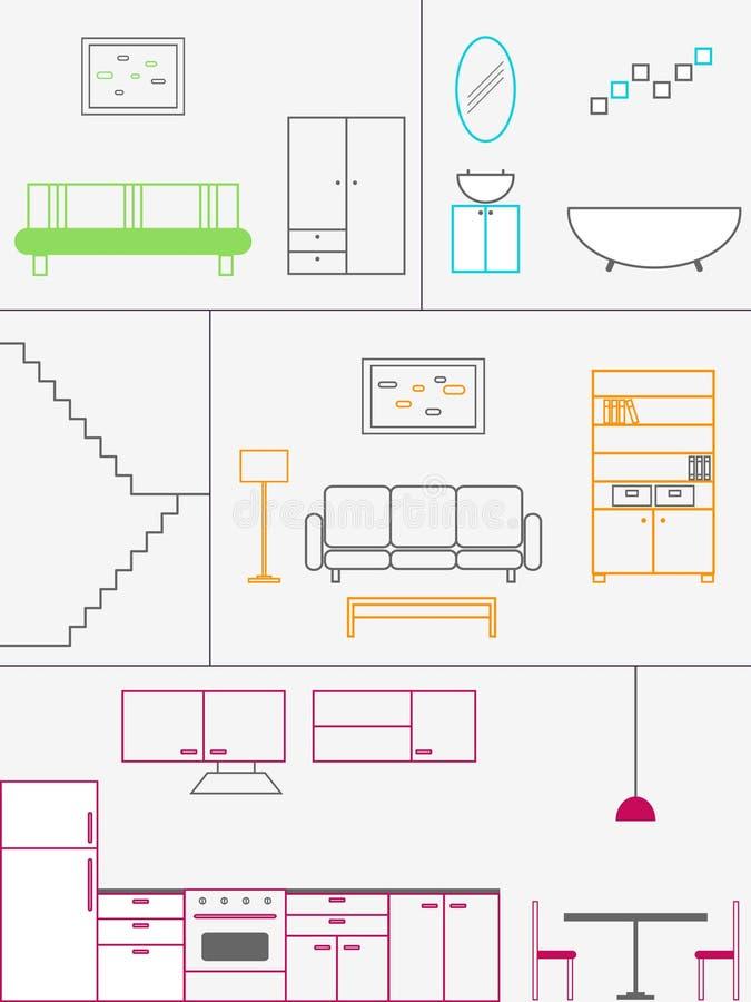 domowy plan royalty ilustracja