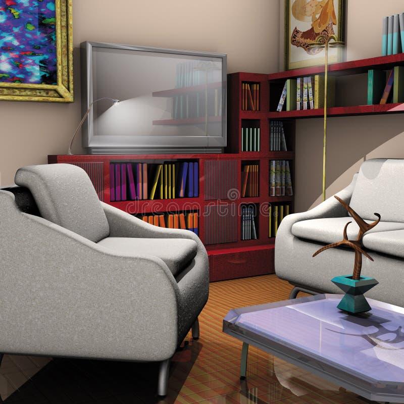 domowy pokój dzienny royalty ilustracja