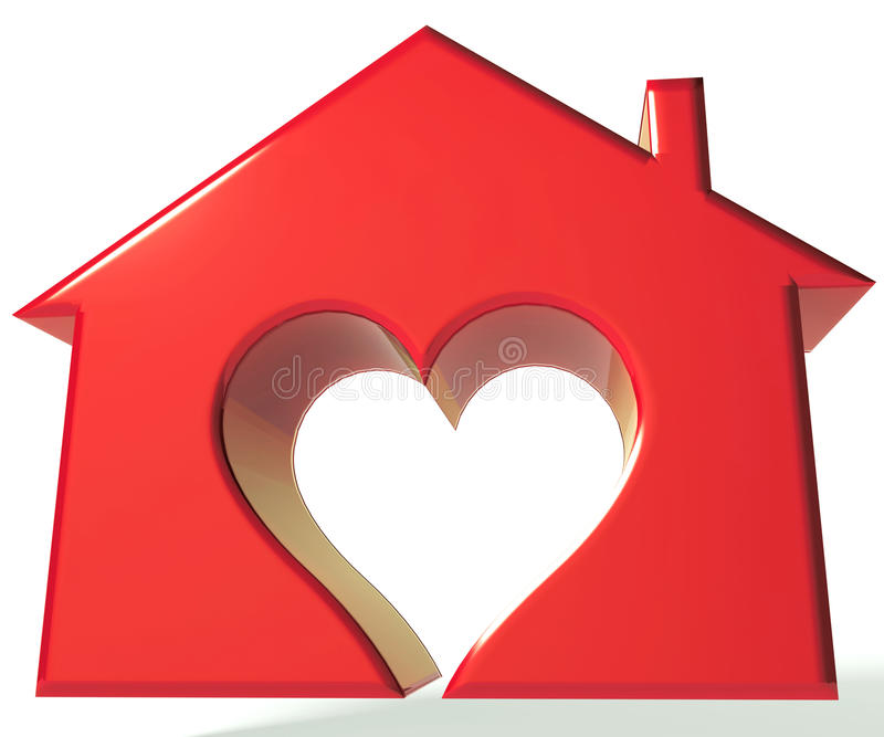 Domowy serce 3D ilustracja wektor