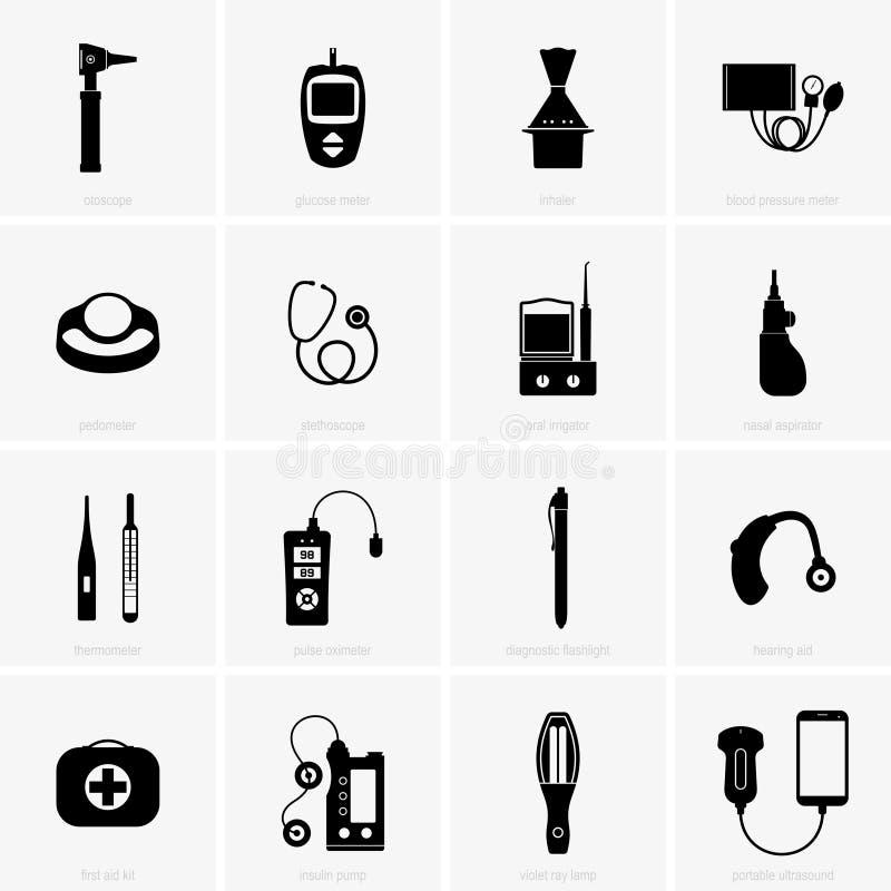 Domowy sprzęt medyczny ilustracja wektor