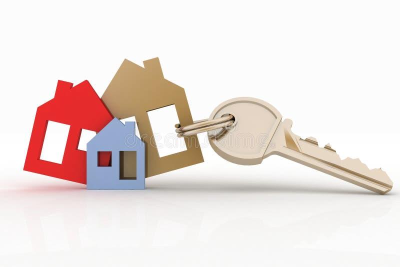 Domowy symbolu set, klucz i