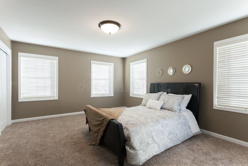Domowy sypialni wnętrze obrazy stock