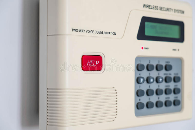 Domowy system bezpieczeństwa, płytka głębia pole, selekcyjna ostrość fotografia royalty free