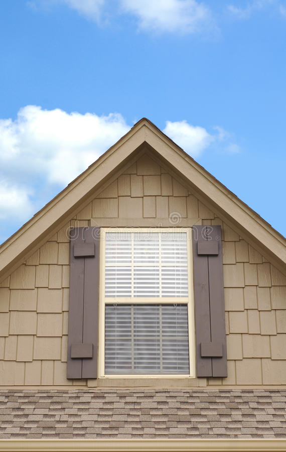 domowy szczytowy okno zdjęcie stock