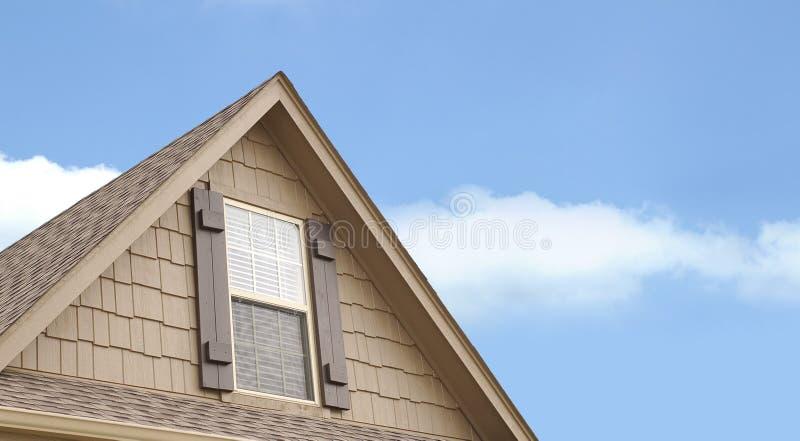 domowy szczytowy okno zdjęcia stock