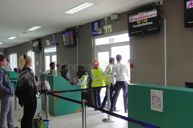 Domowy terminal w samiec, Maldives fotografia stock