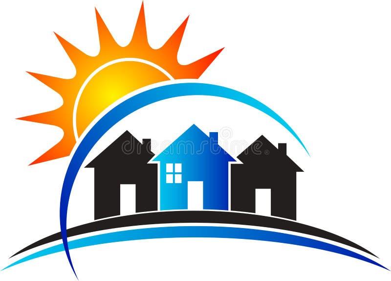 Domowy władza logo ilustracja wektor