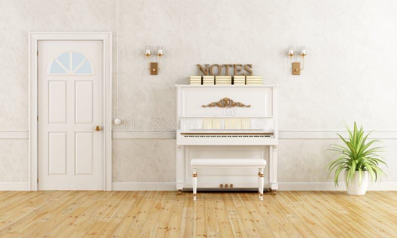 Domowy wejście z pianinem ilustracja wektor