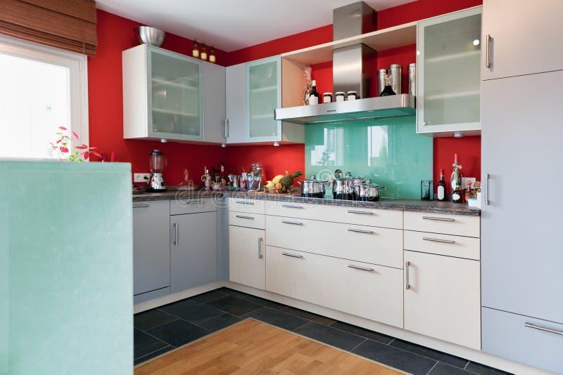 domowy wewnętrzny kuchenny nowożytny zdjęcia royalty free