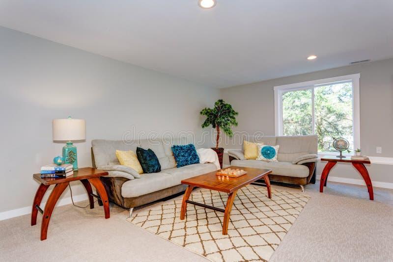 Domowy wnętrze z dwa kanapami obraz royalty free