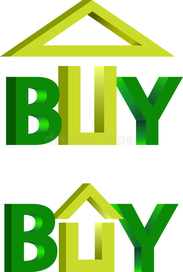 Download Domowy zakupu logo ilustracja wektor. Obraz złożonej z cena - 22012745