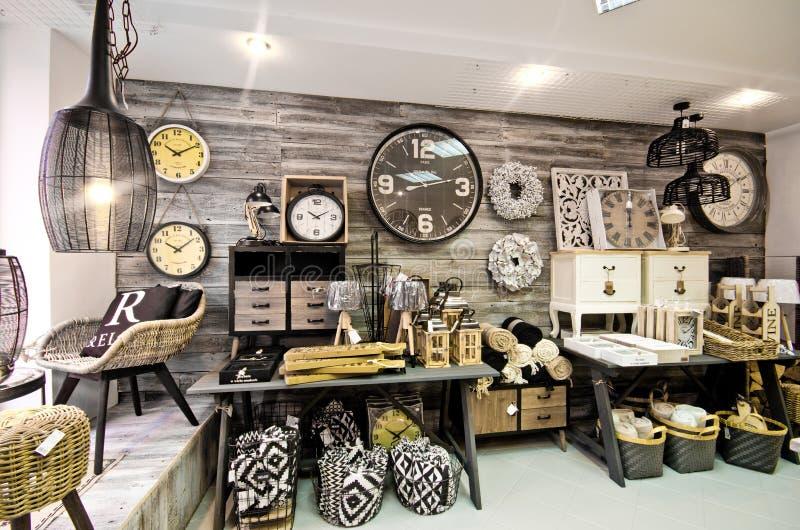 Domowych dekoracj sklepowy wnętrze zdjęcie stock