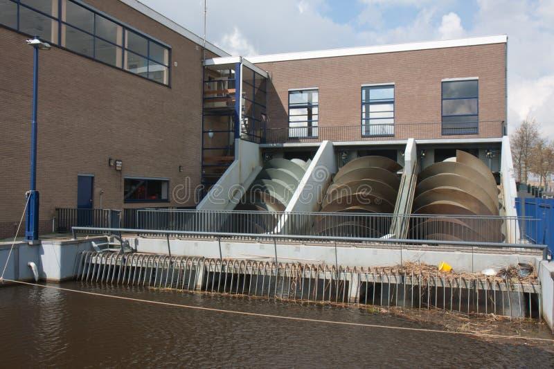 domowych holandii pompowy watermanagement fotografia stock