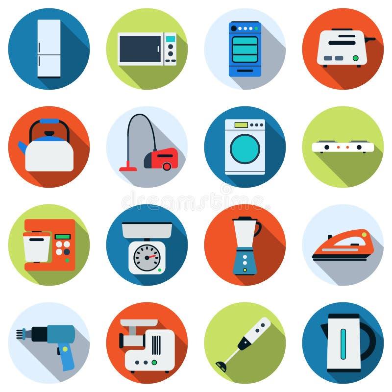 Domowych urządzeń wektoru ikony ilustracja wektor
