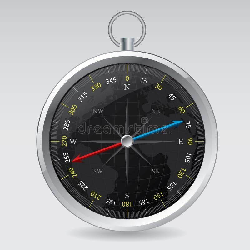 Dompass design med världsöversikten stock illustrationer