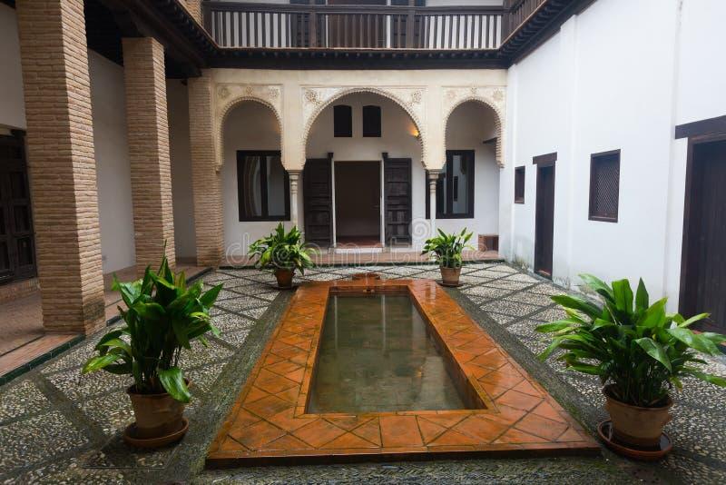 Domstol av hemmet av Hernan Lopez el Feri granada spain arkivfoton