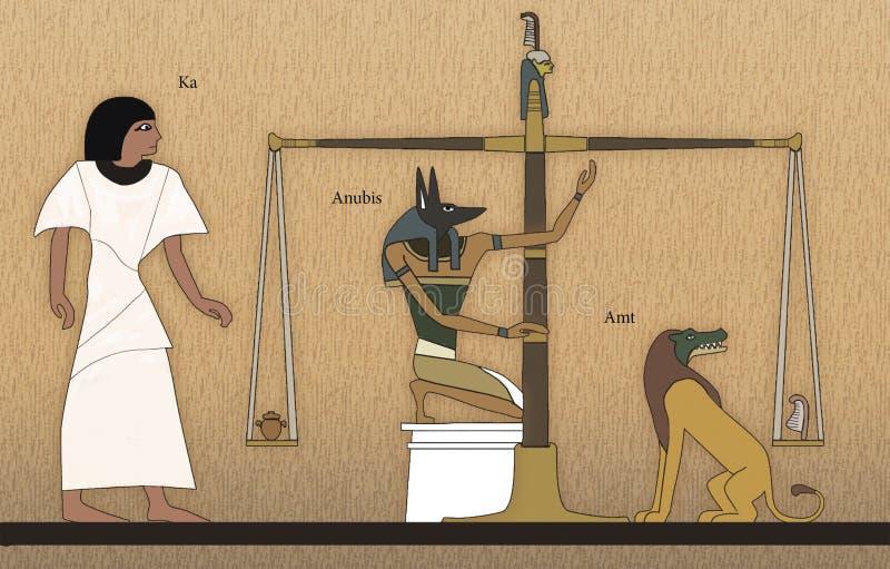 Domstol av Osiris stock illustrationer