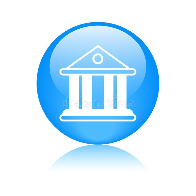 Domstol-/bankbyggnadssymbol vektor illustrationer
