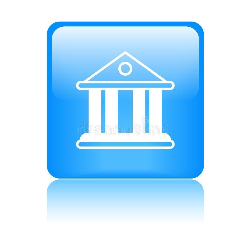 Domstol-/bankbyggnadssymbol royaltyfri illustrationer