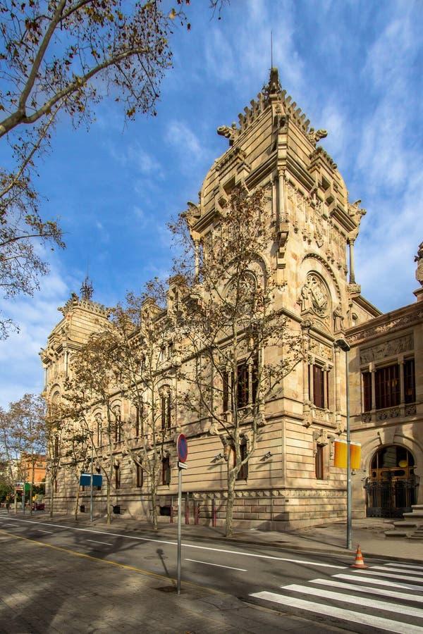 Domstol de Justicia, Barcelona arkivfoton