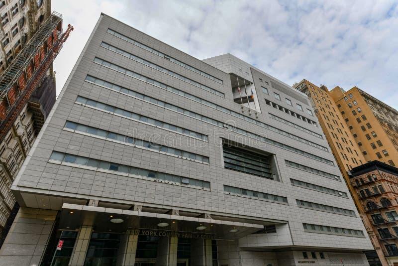 Domstol New York för ståndsmässig familj - New York City arkivfoto
