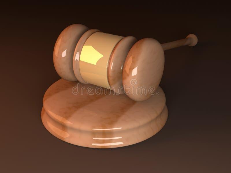 domstolhammare stock illustrationer