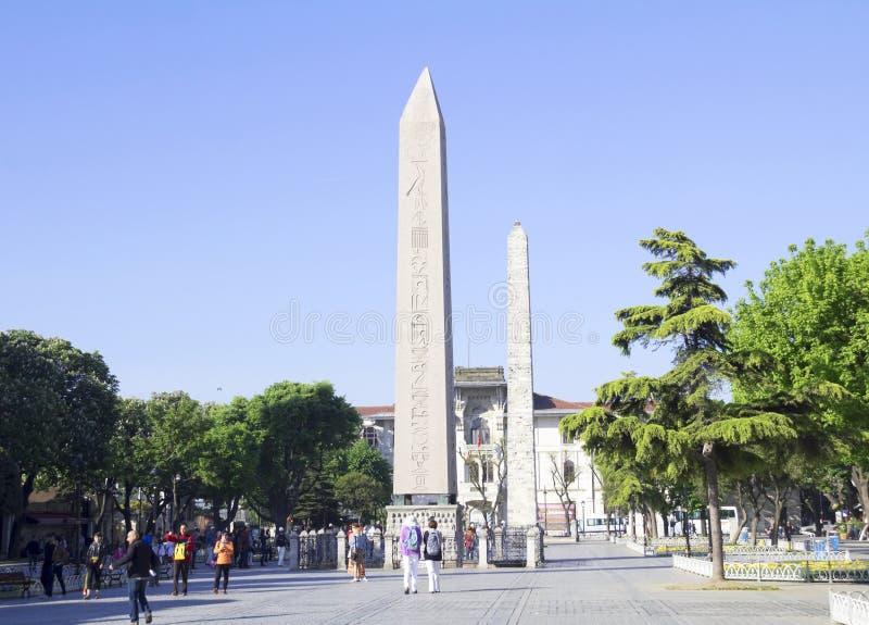 domstolkejsareframsida hans södra theodosius för obelisk royaltyfria bilder