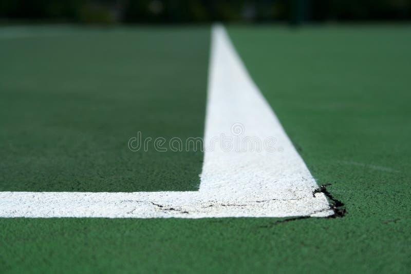 domstollinje tennis royaltyfri bild