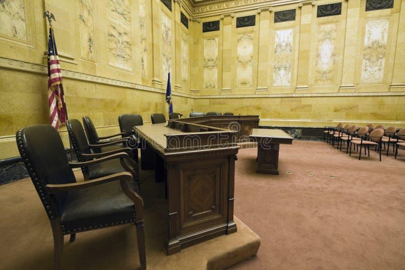 domstollokal royaltyfri bild