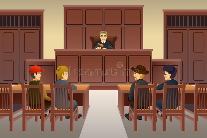 Domstolplatsillustration vektor illustrationer