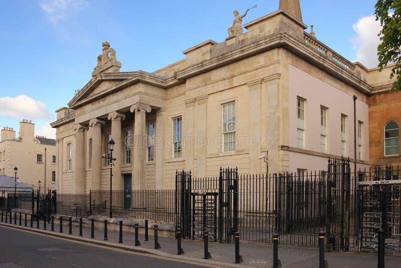 domstolsbyggnad Derry Londonderry Nordligt - Irland förenat kungarike arkivbilder