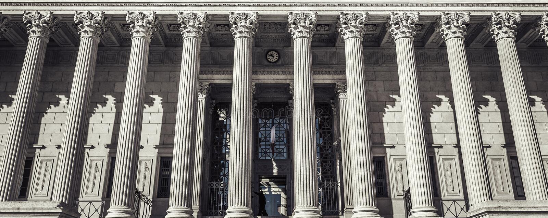 Domstolsbyggnad i Lyon, Frankrike royaltyfri fotografi