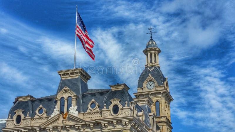 Domstolsbyggnad Wooster, Ohio royaltyfria foton