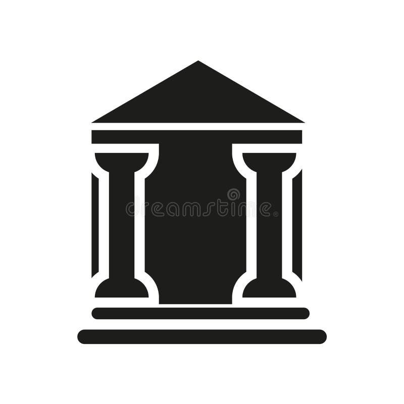 Domstolsbyggnadsymbol  royaltyfri illustrationer