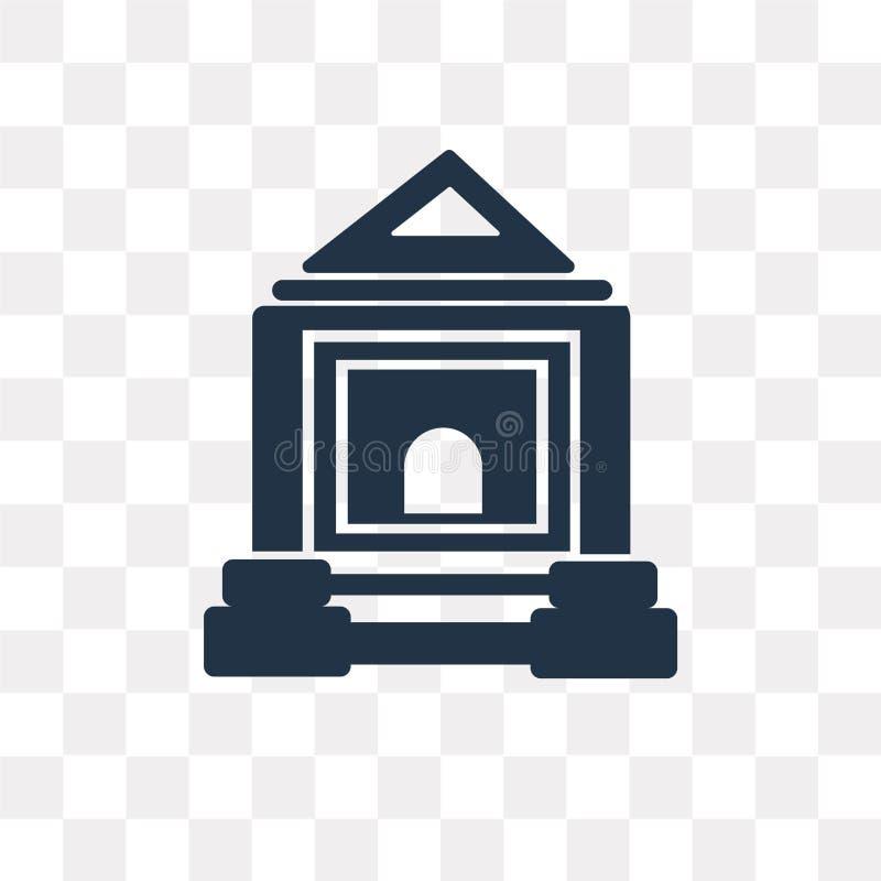 Domstolsbyggnadvektorsymbol som isoleras på genomskinlig bakgrund, domstol stock illustrationer